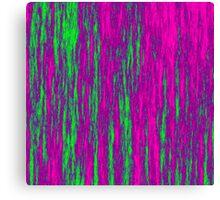 Electric Fur - Vibrant Pink & Green II Canvas Print