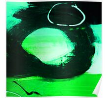 ABSTRACT GREEN, BLUE & BLACK Poster