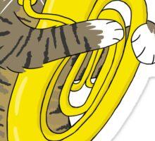 Tuba Cat Sticker