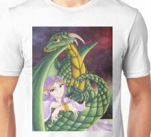 Elf Girl and Dragon Unisex T-Shirt