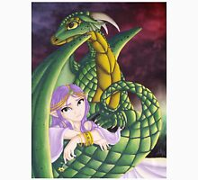 Elf Girl and Dragon Unisex T-Shirt