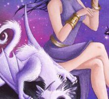 Violet Night Fantasy Sticker