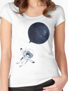 Penguin fly Women's Fitted Scoop T-Shirt