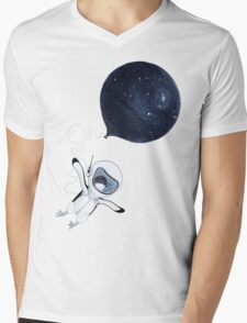 Penguin fly Mens V-Neck T-Shirt