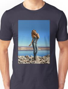 The girl on the rocks Unisex T-Shirt