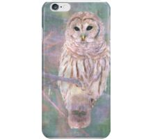 Barred Owl Pastel Oil Painting iPhone Case/Skin