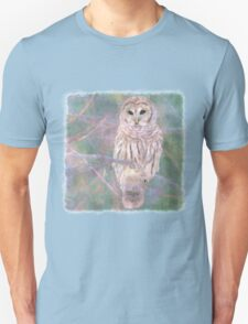Barred Owl Pastel Oil Painting T-Shirt