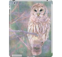 Barred Owl Pastel Oil Painting iPad Case/Skin