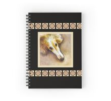 Borzoi in Repose - Black Collection Spiral Notebook