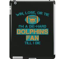 die hard dolphins Fan iPad Case/Skin
