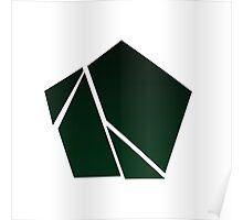 Minimalist Destruction - Polygon Poster