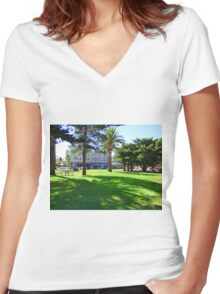 Shadows in Fremantle Women's Fitted V-Neck T-Shirt