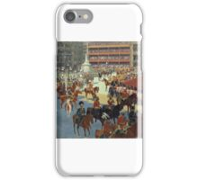 John Charlton - 'God save the Queen' - Queen Victoria arriving at St Paul's Cathedral on the Occasion of the Diamond Jubilee Thanksgiving Service iPhone Case/Skin