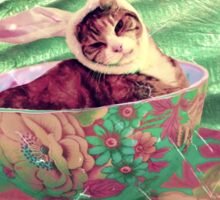 Easter Kitty Cat Sticker