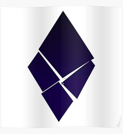 Minimalist Destruction - Diamond Poster