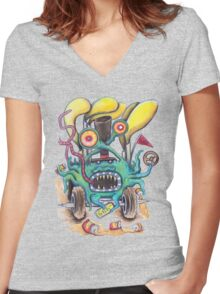 Aussie Road Rage Hoon Monster Women's Fitted V-Neck T-Shirt