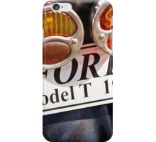 Indicator and Brake Light of a 1927 Model T Ford iPhone Case/Skin