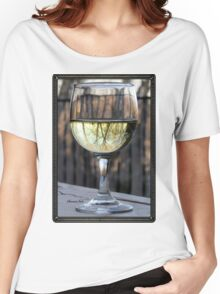 Reflections of Winter in a Glass of Wine Women's Relaxed Fit T-Shirt