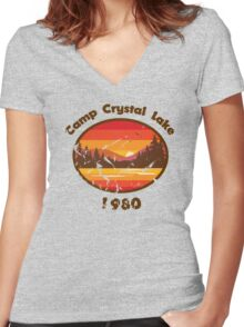 Camp Crystal Lake - Friday 13th Women's Fitted V-Neck T-Shirt