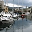 Boats at Alesund by Jenny Brice