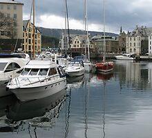 Boats at Alesund by Jenny Brice