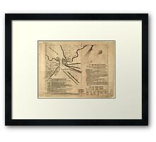 American Revolutionary War Era Maps 1750-1786 260 A Representation of the sea fight on the 5th of Sepr 1781 between Rear Admiral Graves and the Count de Framed Print