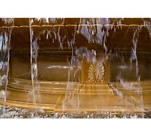 Buttery Golden Marble Through Ripping Water Curtains - Take Two Photographic Print