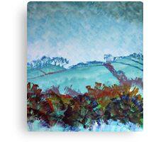 Devon Landscape Painting - The Gloomy Sky Canvas Print