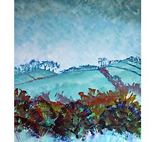 Devon Landscape Painting - The Gloomy Sky Photographic Print