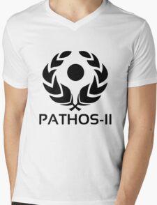 Pathos - 2 (Black) Mens V-Neck T-Shirt