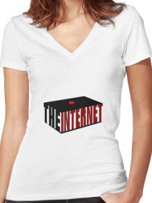 The Internet Women's Fitted V-Neck T-Shirt