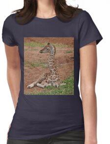 Young Giraffe Womens Fitted T-Shirt