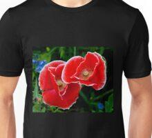 White picotee Papaver rhoeas Unisex T-Shirt