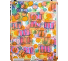 Happy Pattern with Pink Blocks iPad Case/Skin
