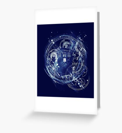 Time and space machine Greeting Card