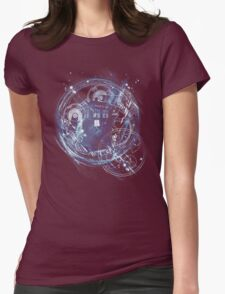 Time and space machine Womens Fitted T-Shirt