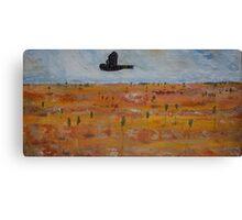 Black Cockatoo in A Tangerine Desert Canvas Print