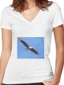 'African Fish Eagle' by Luke Becker (2016) Women's Fitted V-Neck T-Shirt