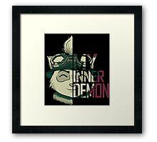My inner demon Framed Print