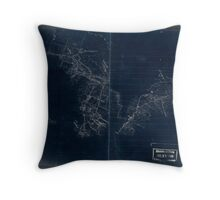 068  Preliminary sketch of a portion of the Belle Grove or Cedar Creek battlefield area Inverted Throw Pillow