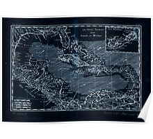 American Revolutionary War Era Maps 1750-1786 577 Les isles Antilles et le golfe du Méxique Inverted Poster