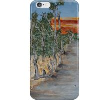 Australian River Bend Landscape with Gum trees iPhone Case/Skin