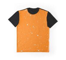 Starscape Trading Card Pattern Orange Graphic T-Shirt