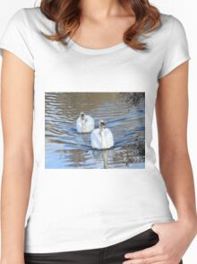 Mute Swans Women's Fitted Scoop T-Shirt
