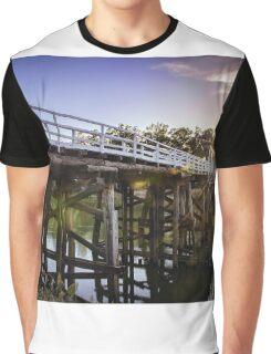 Cobram Barooga Bridge At Sunrise Graphic T-Shirt