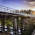 Cobram Barooga Bridge At Sunrise by djzontheball