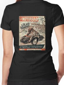 vintage sidecar Women's Fitted V-Neck T-Shirt
