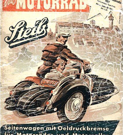 vintage sidecar Sticker