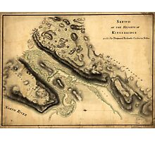 American Revolutionary War Era Maps 1750-1786 889 Sketch of the Heights of Kingsbridge with the proposed redouts couloured yellow Photographic Print