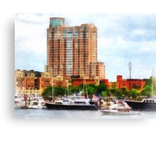 Boats at Inner Harbor Baltimore MD Canvas Print